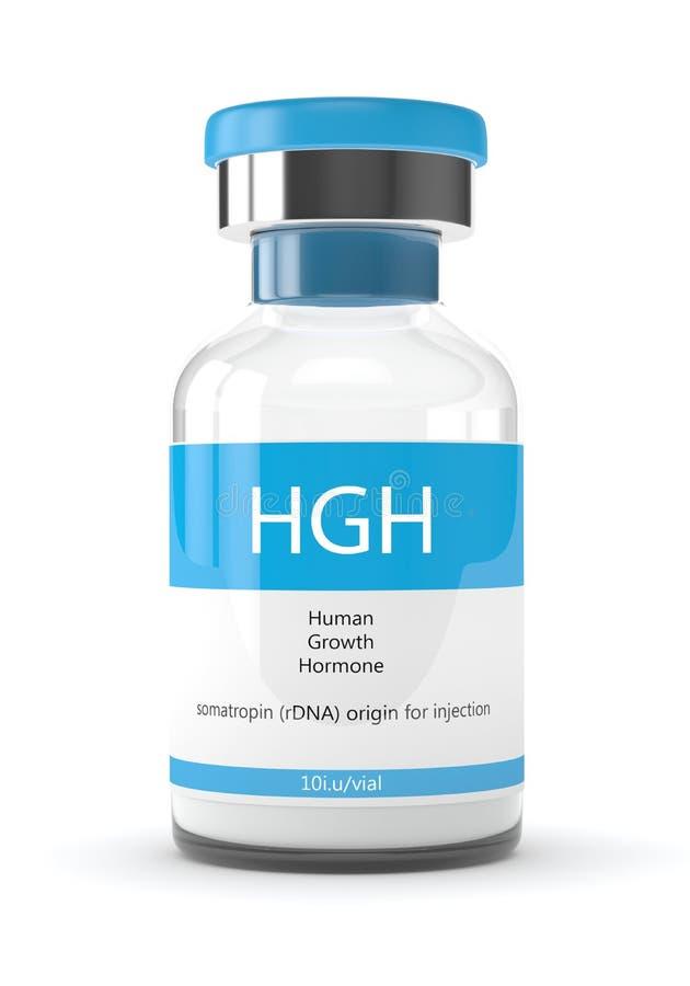 3d回报在白色的HGH小瓶 库存例证