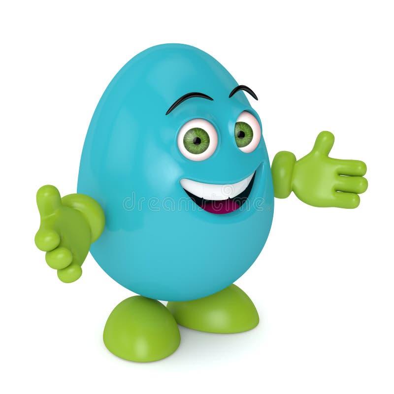 3d回报复活节动画片鸡蛋 库存例证