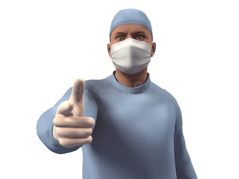3D回报外科医生 库存图片
