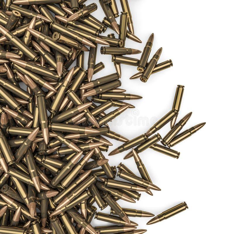 步枪子弹溢出 皇族释放例证