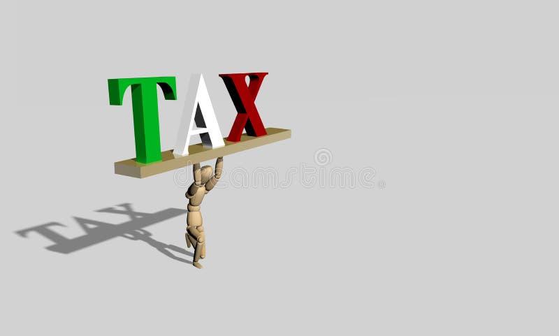 3D回报木假的税 免版税库存图片