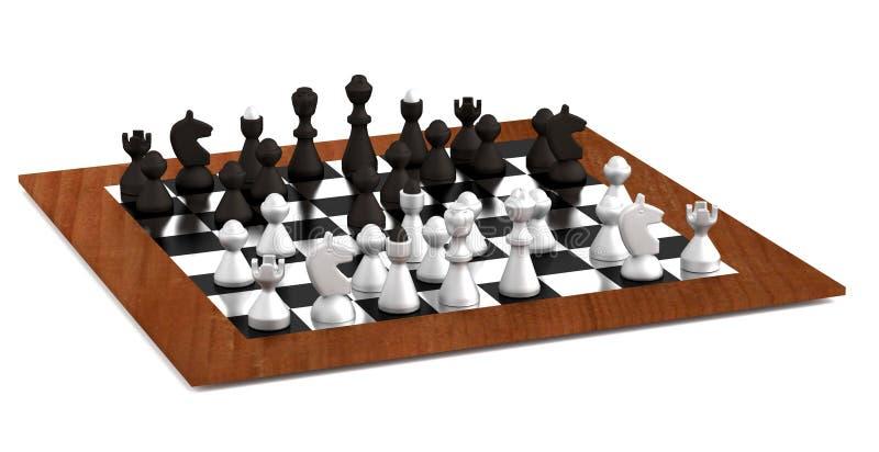 3d回报棋 向量例证