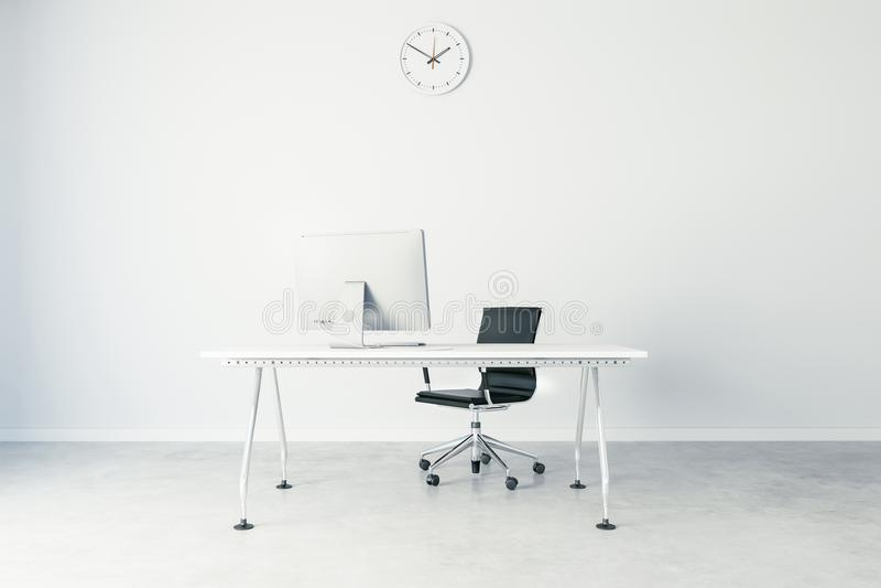 3d回报现代计算机工作场所 皇族释放例证