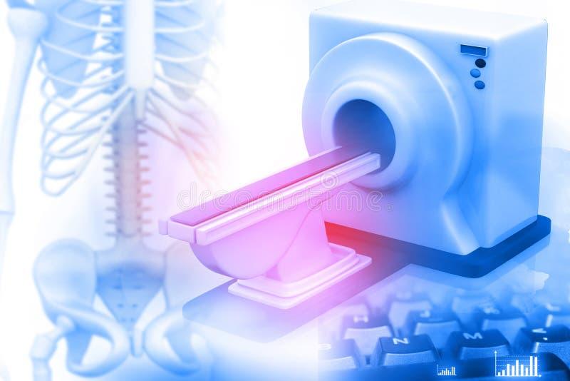 3d回报磁反应想象扫描器 皇族释放例证