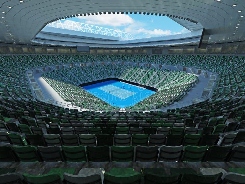 3D回报美丽的现代网球全垒打极为相象的体育场 皇族释放例证