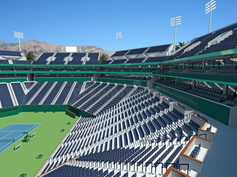 3D回报美丽的现代网球大师极为相象的体育场 向量例证
