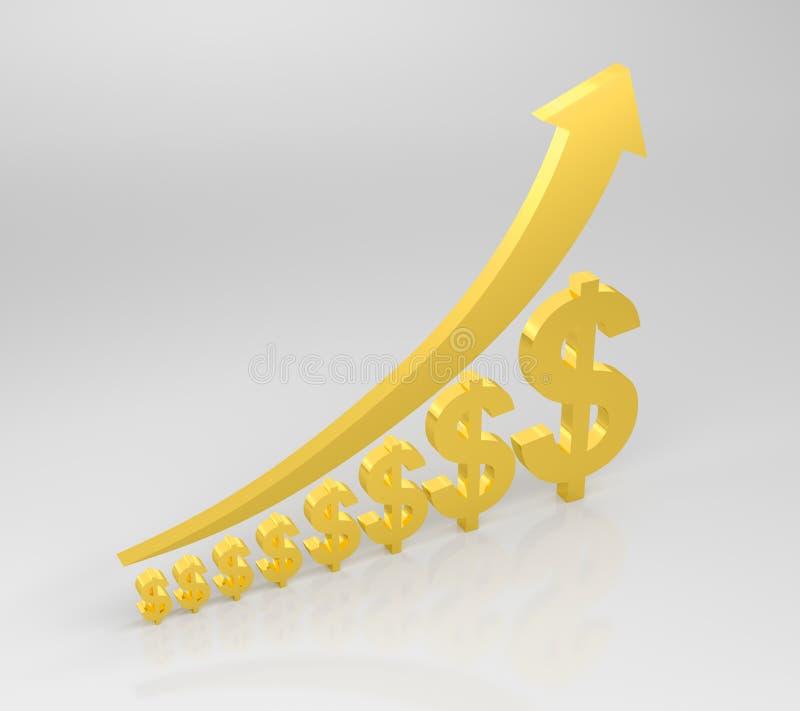 增长的成功 向量例证