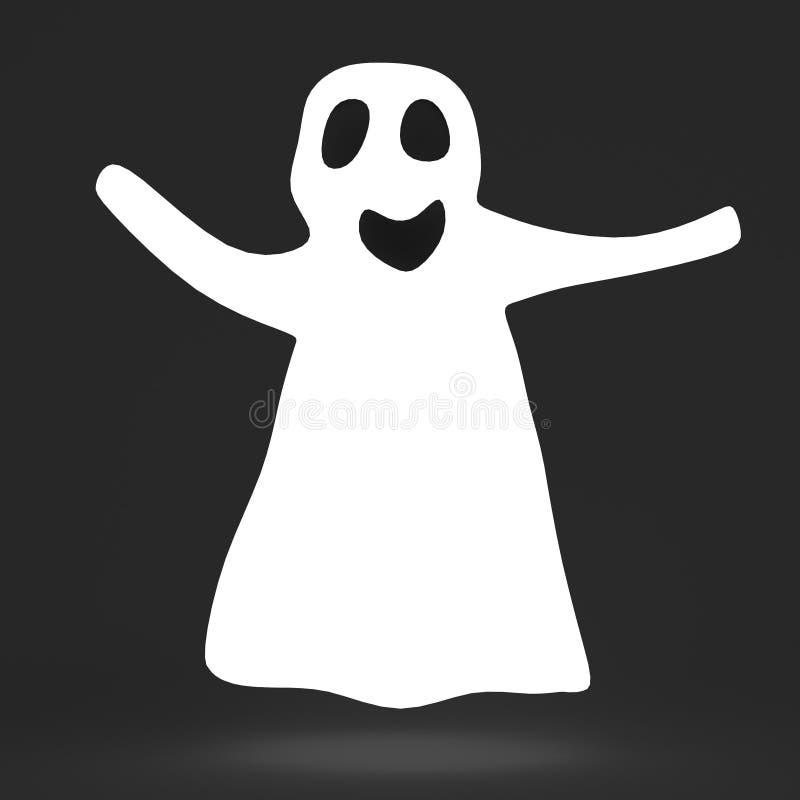 3d回报鬼魂 向量例证