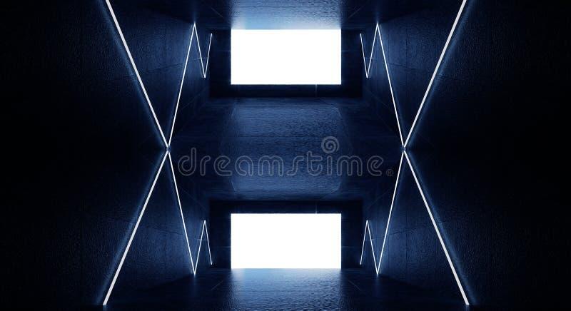 3d回报,抽象背景,隧道,霓虹灯,虚拟现实,曲拱,桃红色蓝色,充满活力的颜色,激光展示,隔绝在bla 皇族释放例证