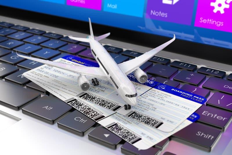3d回报 创造性的抽象空气商务旅游、旅游业和运输概念 皇族释放例证