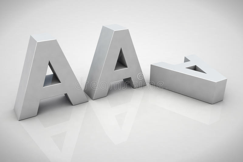 3D回报AAA财务信用记法 库存例证
