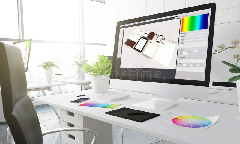 3d图形设计演播室 向量例证