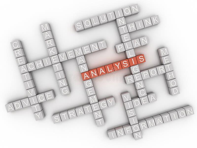 3d图象分析发布概念词云彩背景 库存例证