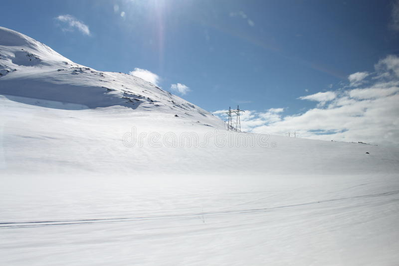 3d图象横向山雪 库存照片