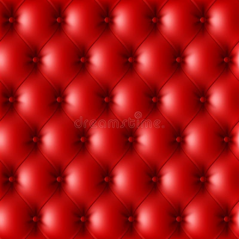 3d图象皮革模式红色被回报的室内装潢 皇族释放例证