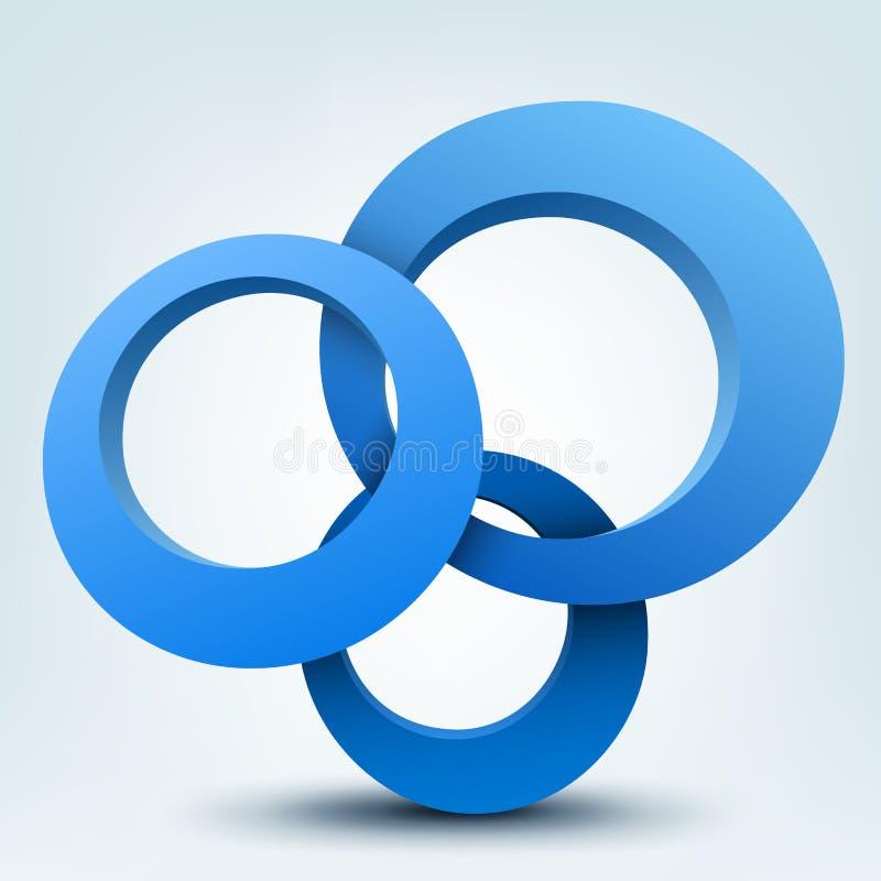 3d圆环 皇族释放例证
