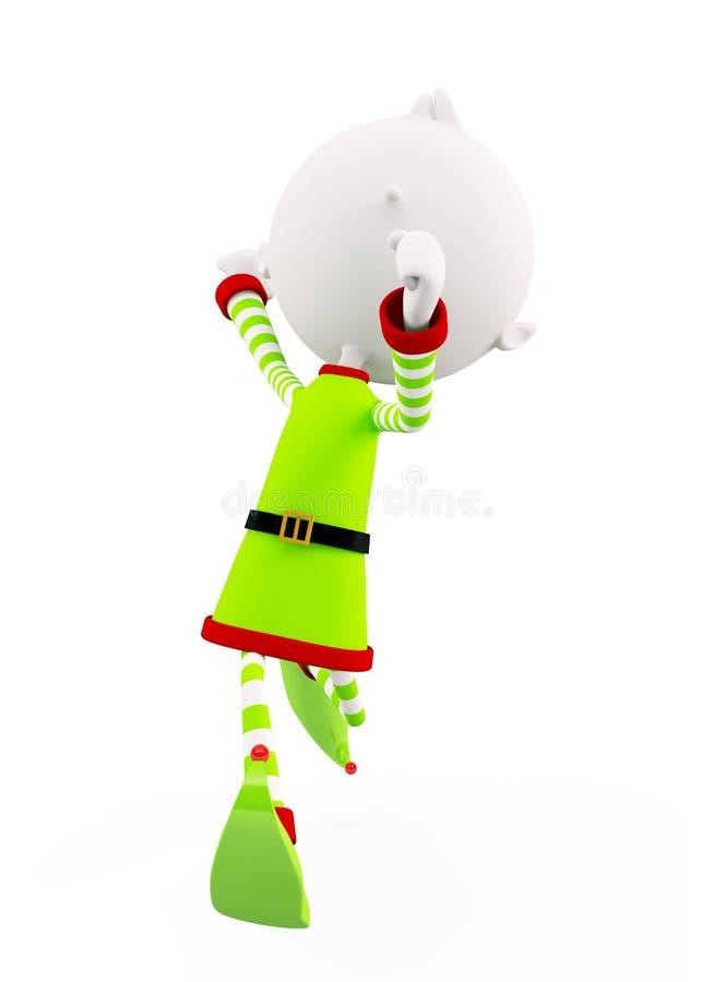 3d圣诞节的矮子 向量例证