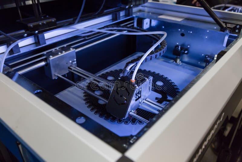 3d在技术插孔的打印机在米兰,意大利 免版税图库摄影