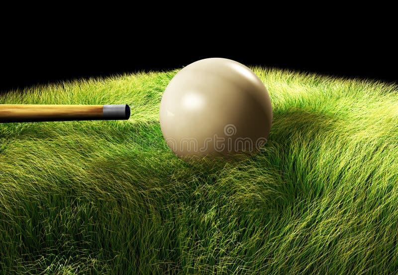 3D在桌上的撞球 皇族释放例证