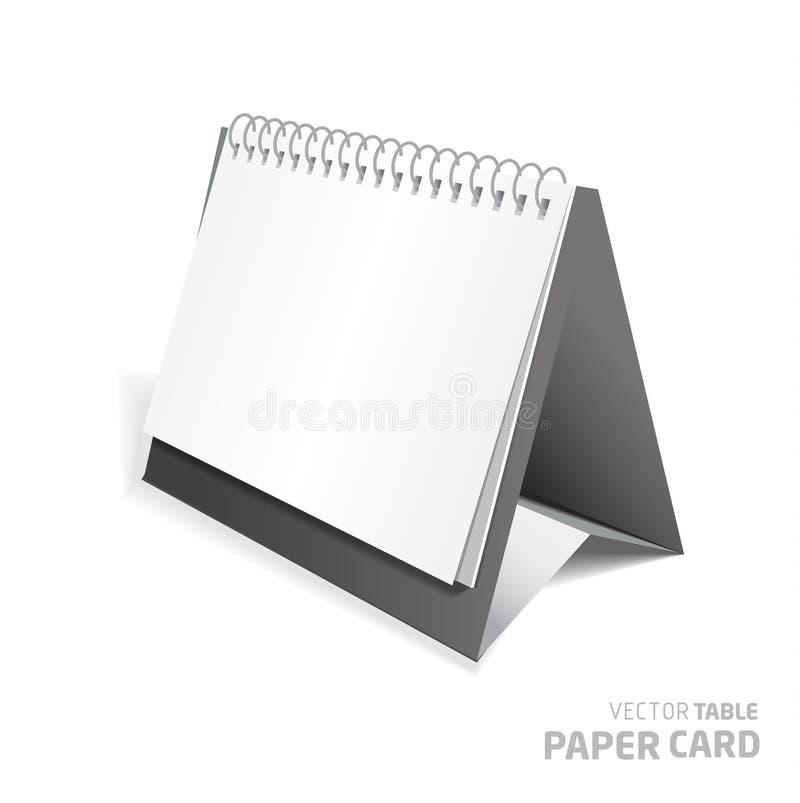 3d在灰色背景的桌纸牌 皇族释放例证
