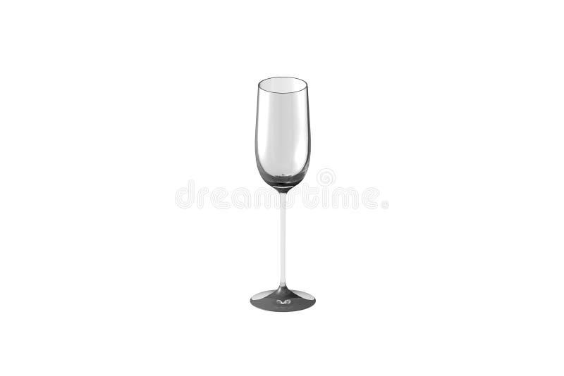 3D在白的水杯隔绝的热忱的烈酒杯的例证回报 向量例证
