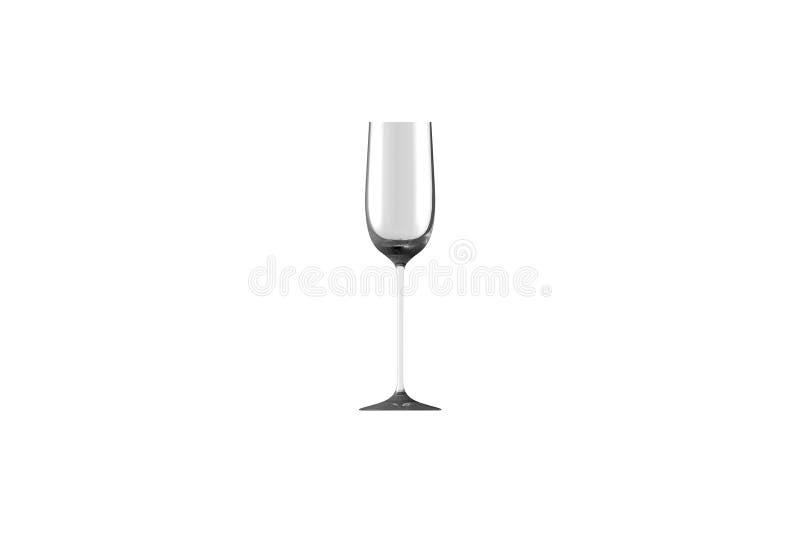 3D在白色侧视图隔绝的热忱的烈酒杯-水杯的例证回报 向量例证
