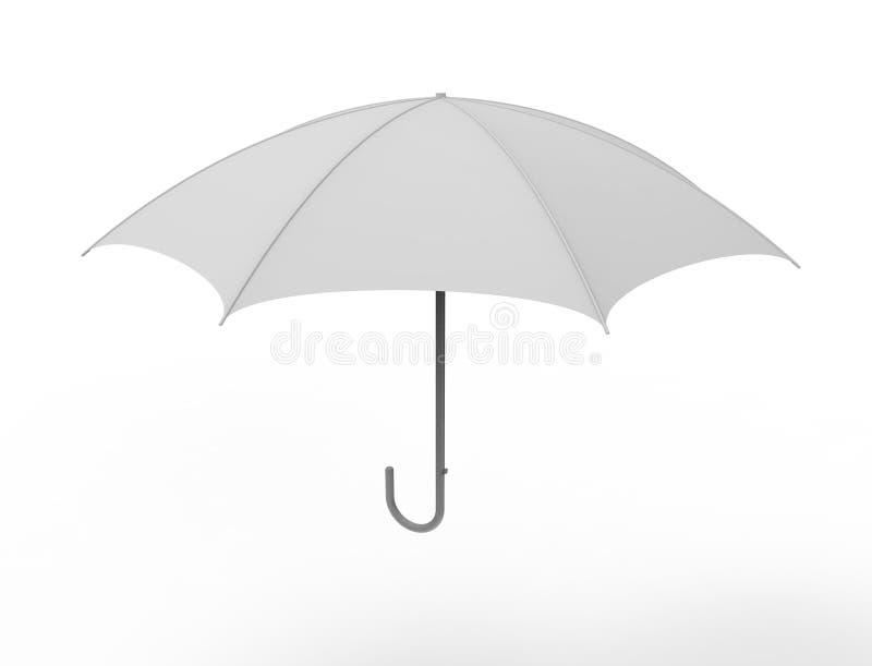 3d在白色演播室背景中隔绝的伞的翻译 库存例证