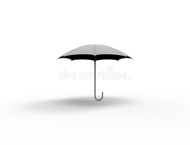 3d在白色演播室背景中隔绝的伞的翻译 向量例证