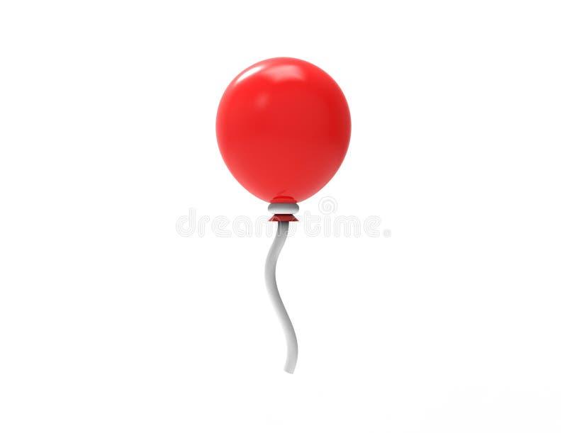 3D在白色演播室背景隔绝的色的气球翻译  向量例证