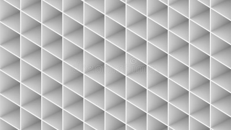 3D在白色背景使抽象大厦被隔绝 向量例证