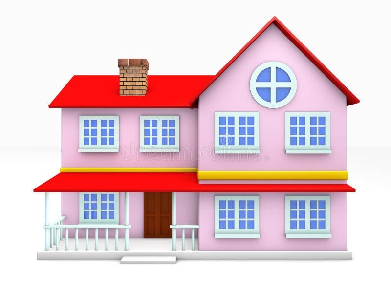 Download 3d在白色背景回家隔绝 库存例证. 插画 包括有 属性, 系列, 烟囱, 房子, 实际, 屋顶, 墙壁, 证券 - 30331037