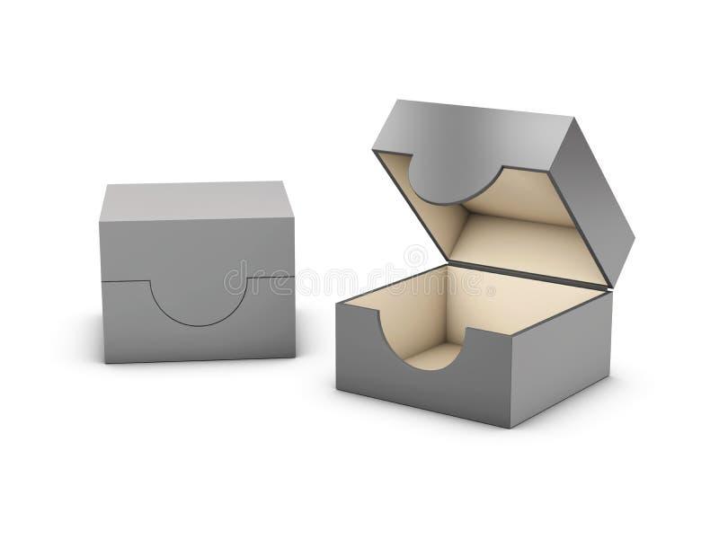 3d在白色背景隔绝的光盘盒的例证 皇族释放例证