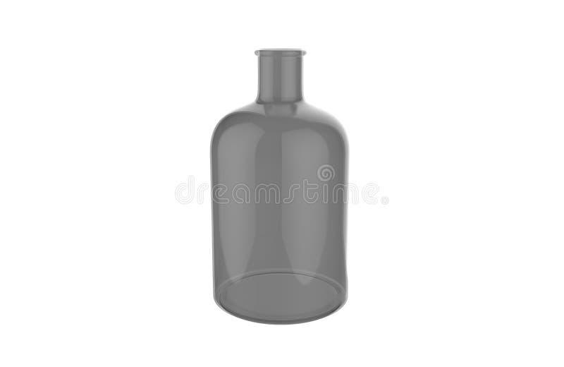 3d在白色背景隔绝的装饰玻璃瓶的例证 向量例证