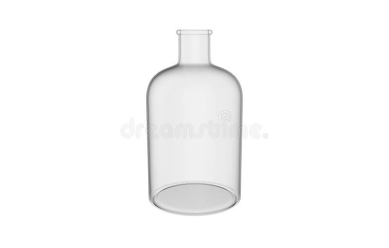 3d在白色背景隔绝的装饰玻璃瓶的例证 皇族释放例证