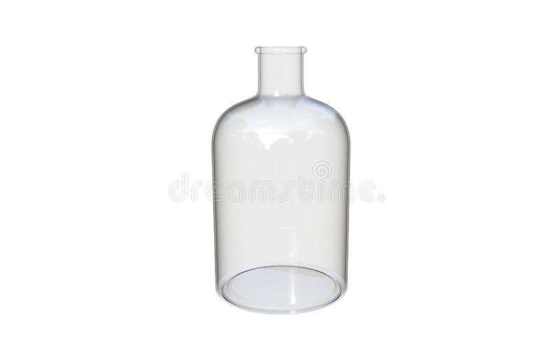 3d在白色背景隔绝的装饰玻璃瓶的例证 库存例证