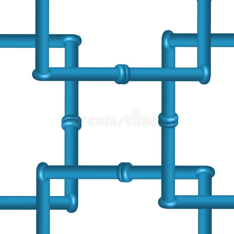 3D在白色背景隔绝的输送管道,工业工具 皇族释放例证