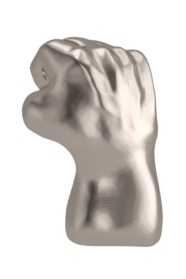 3D在白色背景3D例证隔绝的猛击的拳头 皇族释放例证