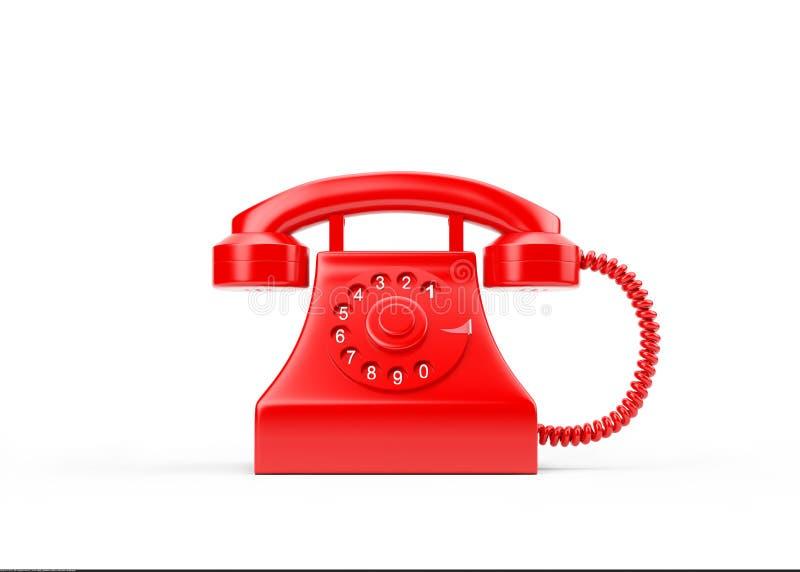 3d在白色隔绝的红色电话 皇族释放例证