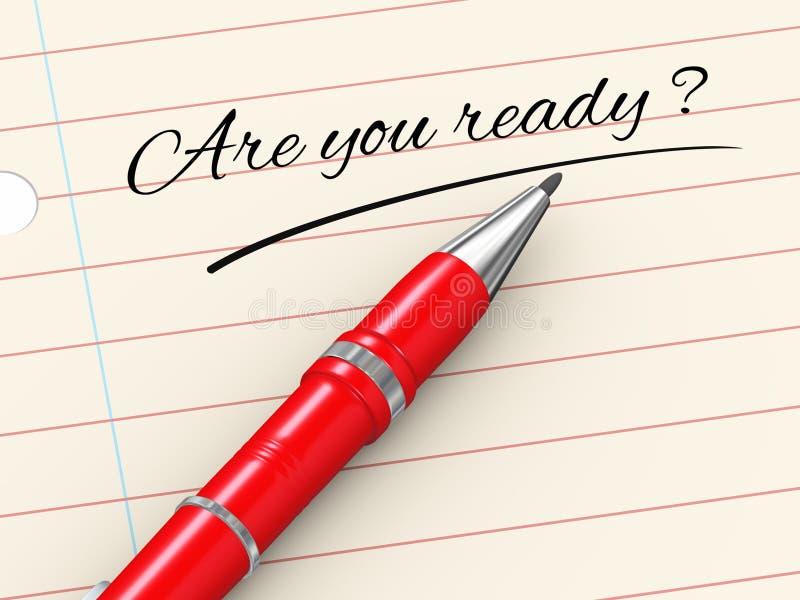 3d在纸的笔-是您准备 库存例证