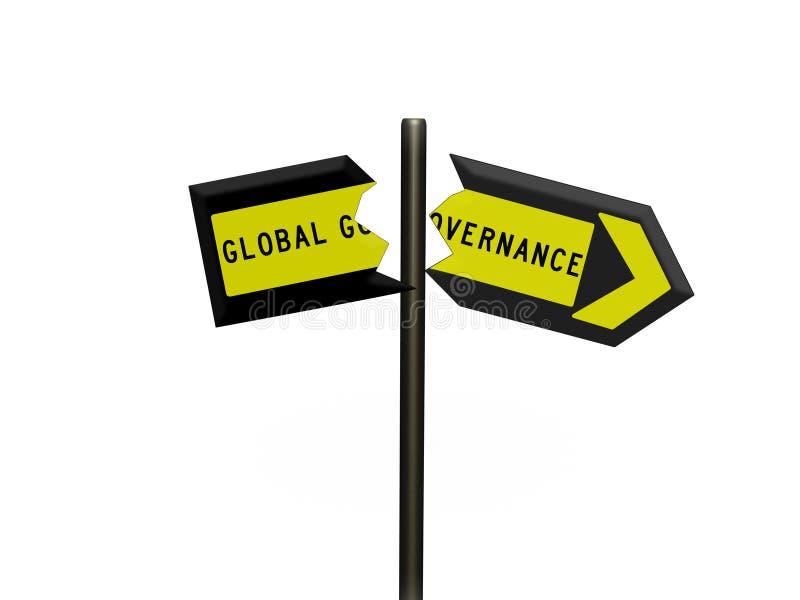 3d在路标和白色背景的标志 向量例证