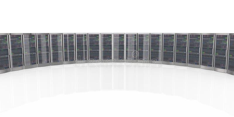 3d在datacenter的系统计算机服务器 库存例证