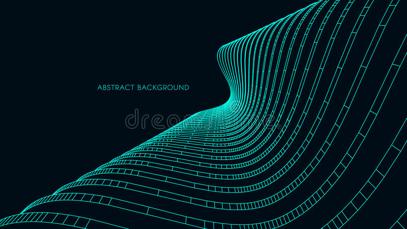 3d地下结构上背景停车库 抽象向量例证 3D企业介绍的抽象未来派设计 库存例证