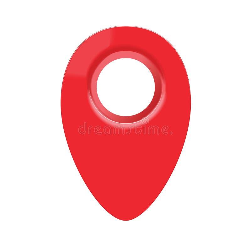 3d地图geo别针 向量例证