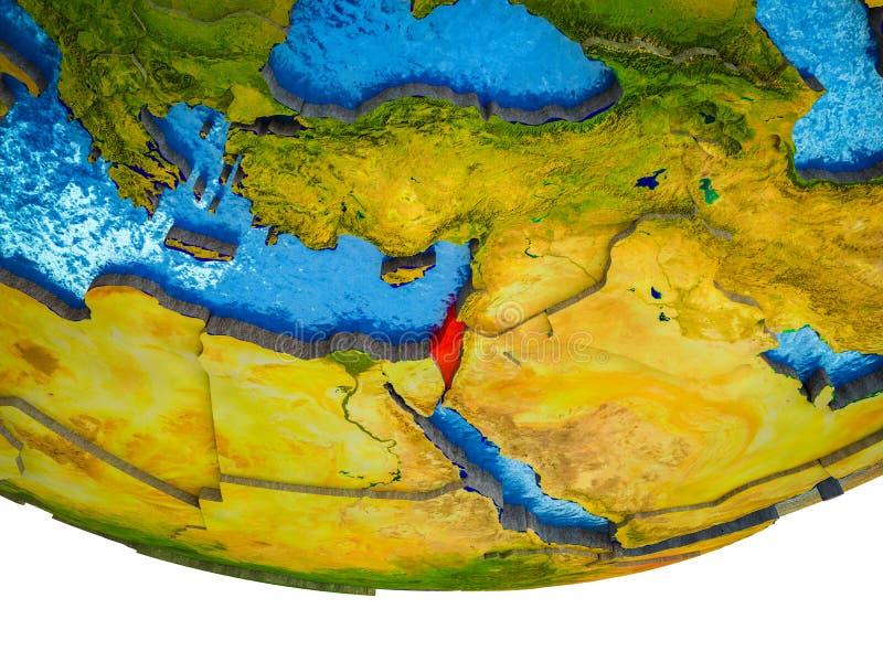 3D地球上的以色列 向量例证