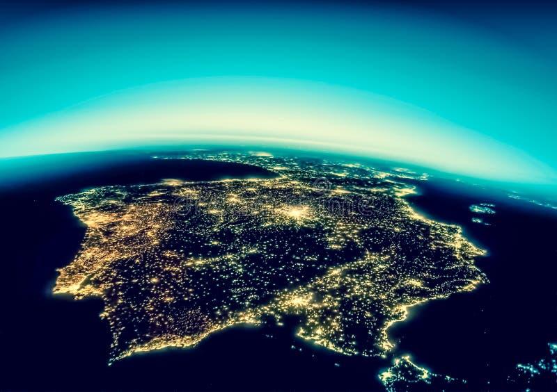 3d地球展望期线路回报了空间 最佳的企业概念概念全球地球发光的现有