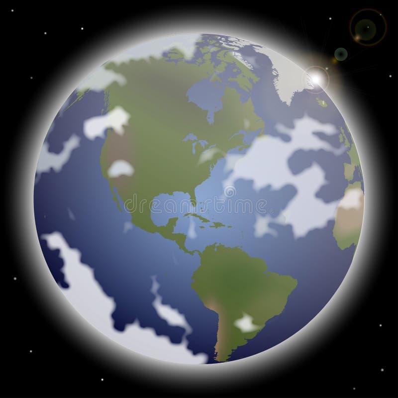 Download 3d地球展望期线路回报了空间 向量例证. 插画 包括有 行星, 幻想, 科学, 阳光, 焕发, 波斯菊, 天空 - 62536346