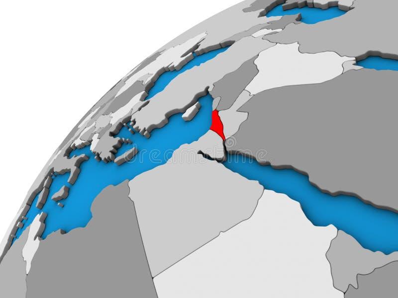 3D地球的以色列 皇族释放例证