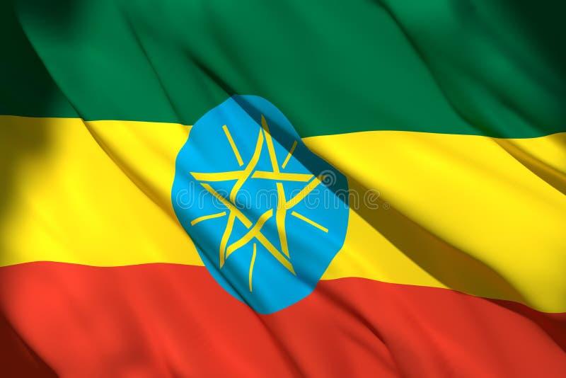 3d埃塞俄比亚旗子翻译  皇族释放例证