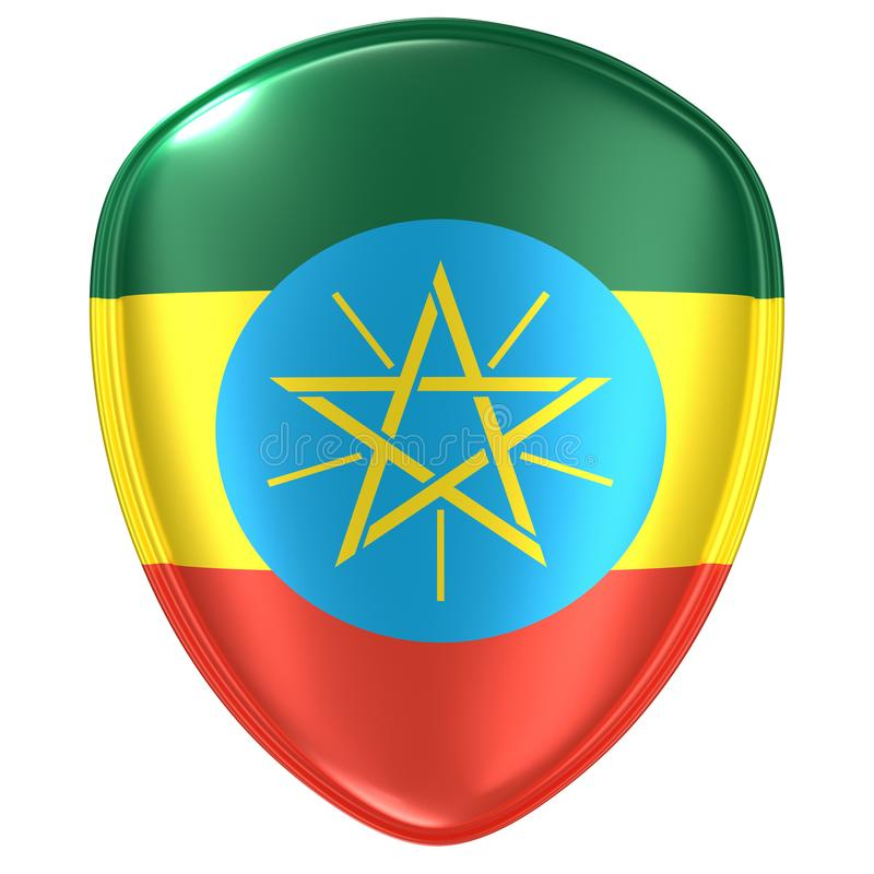 3d埃塞俄比亚旗子象的翻译 向量例证