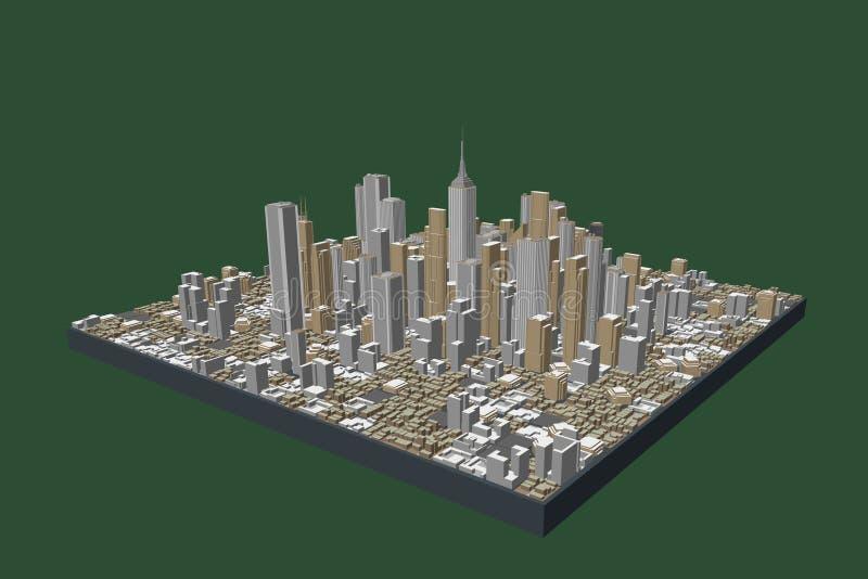 3D城市模型  也corel凹道例证向量 向量例证